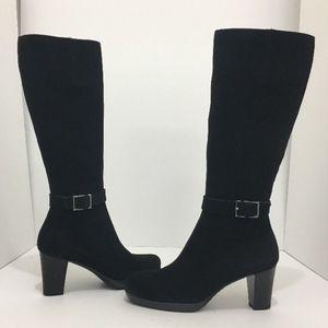 La Canadienne Black Suede Tall Waterproof Boots